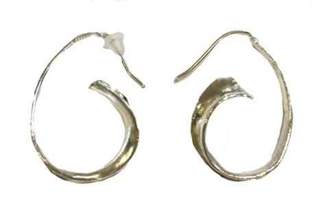 Earrings - Silver Anticlastic Hoops