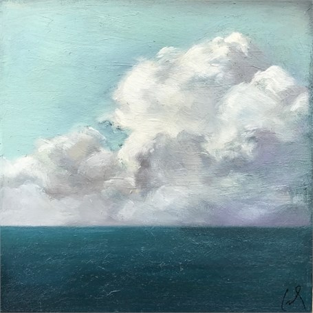 "Margaret Gerding | Ocean Clouds  | Oil on Canvas | 10"" X 10"" 