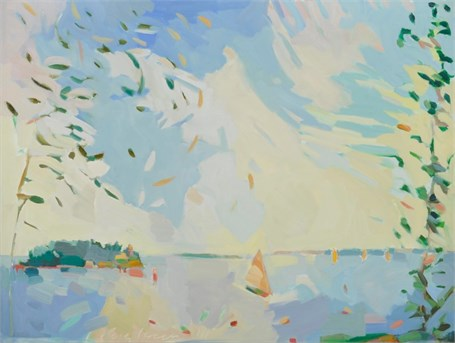 "Henry Isaacs | Bear Island | Oil on Canvas | 30"" X 40"" 