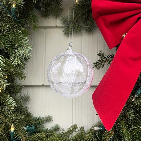 Glass Orb Filigrana Ornament