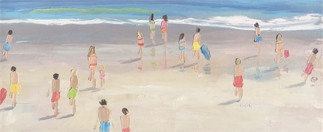 "Bethany Harper Williams | Sunshine Makes Me Smile | Oil on Canvas | 15"" X 36"" 
