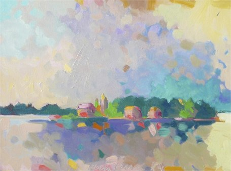 "Henry Isaacs | Île de l'Ouest, France | Oil | 12"" X 16"" 
