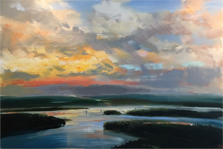 "Craig Mooney | Sky Island | Oil on Canvas | 40"" X 60"" 
