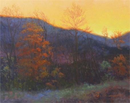 "Abbie Williams | Vermont Dusk | Oil | 16"" X 20"" | Sold"