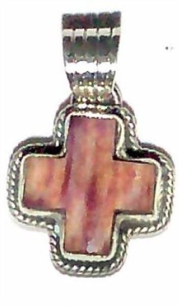 Pendant - Sterling Silver & Spiny Oyster Cross DD 163 164