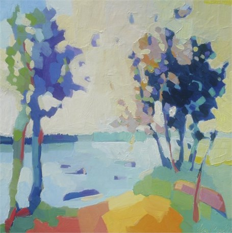 "Henry Isaacs | Off Flying Point #2 | Oil | 30"" X 30"" 