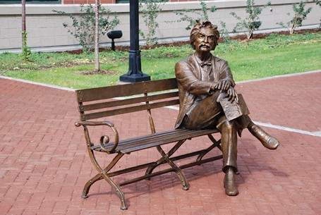 Mark Twain Bench - Life Size