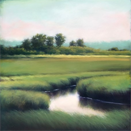 "Margaret Gerding | Dawn's Blush | Oil on Panel | 30"" X 30"" 