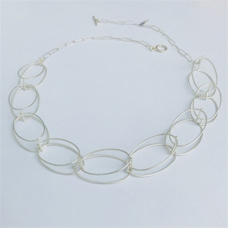 Necklace: 9 Oval Structures