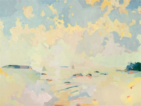 "Henry Isaacs | View South from Cranberry Island #1 | Oil on Linen | 30"" X 40"" 