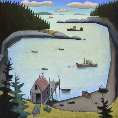 "David Witbeck | Cozy Cove | Oil on Canvas | 30"" X 30"" 
