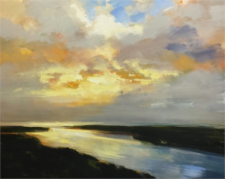 "Craig Mooney | Afterglow Haze | Oil on Canvas | 48"" X 60"" 