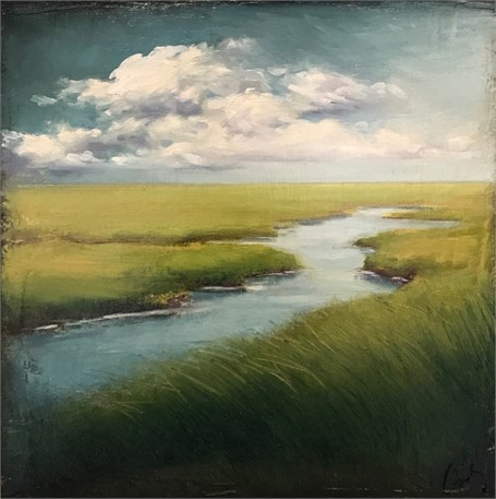 "Margaret Gerding | Seeing Forever | Oil on Canvas | 10"" X 10"" 