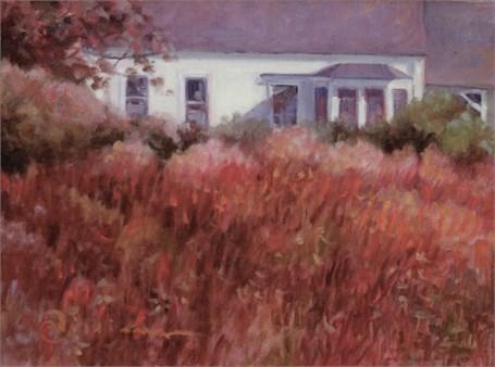 "Abbie Williams | Monhegan Meadow | Oil | 12"" X 16"" | Sold"