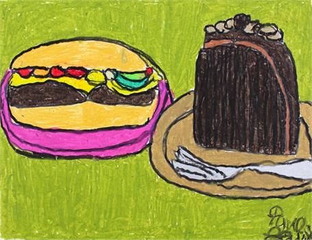 Cake and a Burger