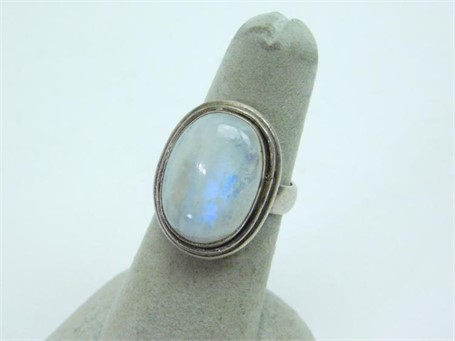 Ring - Moonstone and Sterling Silver