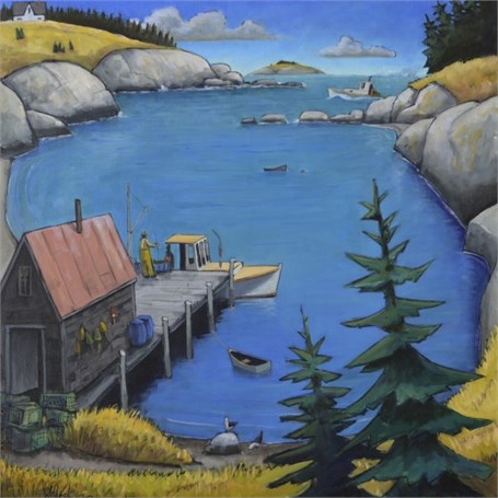 "David Witbeck | High Tide at Noon | Oil | 30"" X 30"" 