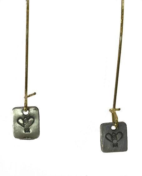 Earrings - Bee Charm Hoops