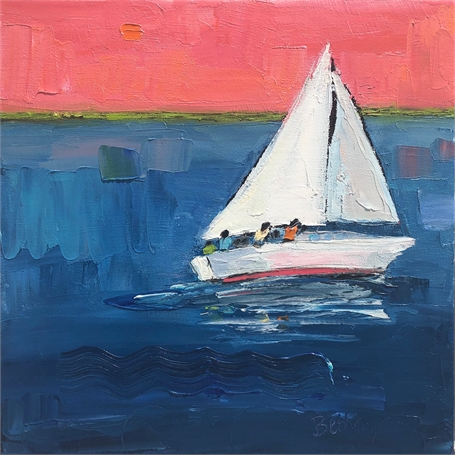 "Bethany Harper Williams | Sailor's Delight | Oil on Canvas | 14"" X 14"" 