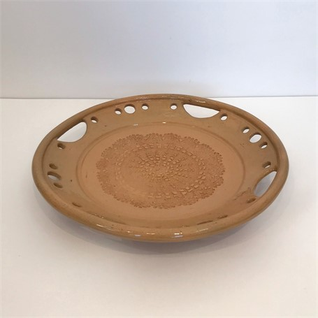 "Richard Winslow | Large Textured Dish | Ceramic | 2.5"" X 14.75"" 