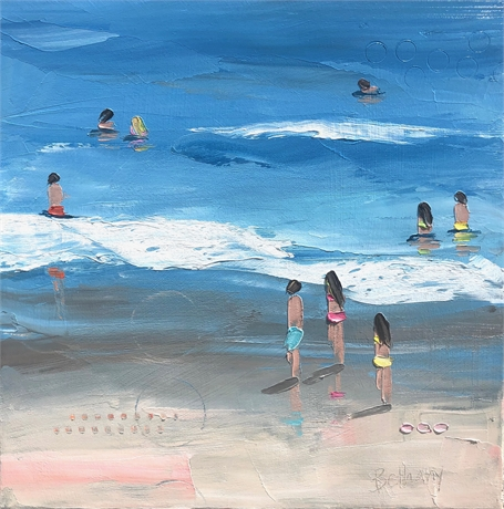"Bethany Harper Williams | Into the Blue | Oil on Canvas | 16"" X 16"" 