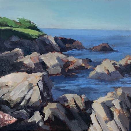 "Margaret Gerding | Morning Light-Day 15 | Oil on Panel | 8"" X 8"" 