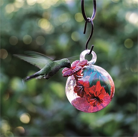 Hummingbird Feeder - Hand Painted Droplets