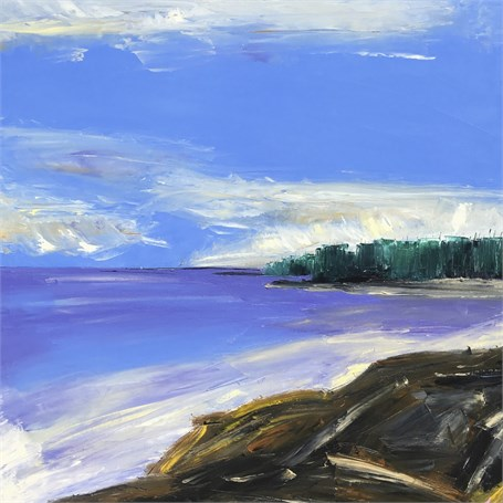 "Janis H. Sanders | Cliffs | Oil on Canvas | 30"" X 30"" 