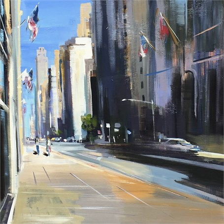"Craig Mooney | City Avenue | Oil | 30"" X 30"" 