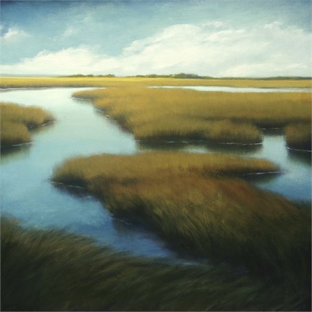 "Margaret Gerding | Start of Day | Oil on Canvas | 36"" X 36"" 