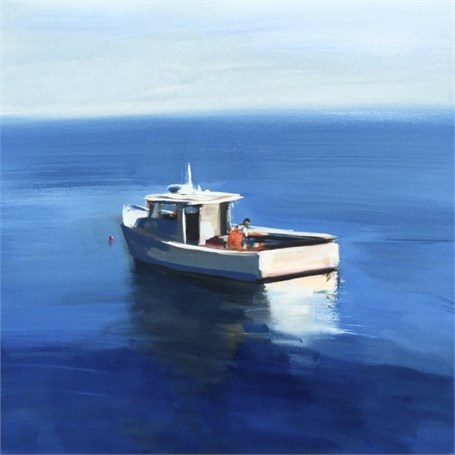 "Craig Mooney | Setting Traps | Oil | 30"" X 30"" 