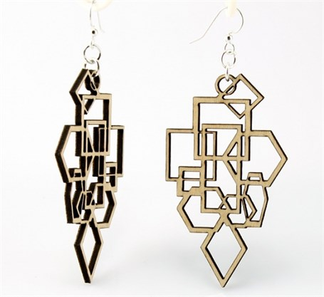 Earrings - Diamond and Square 1009
