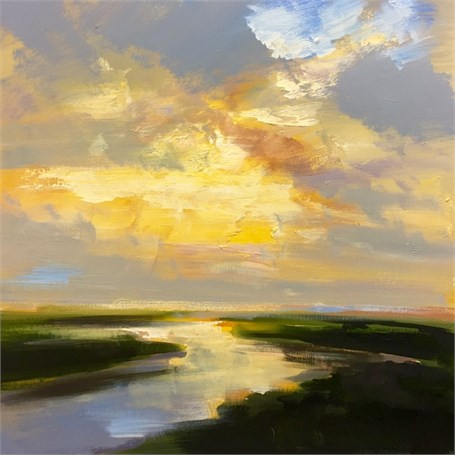 "Craig Mooney | Current Light | Oil on Canvas | 24"" X 24"" 