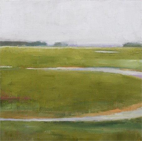 "Ellen Welch Granter | Twilight Darkens | Oil on Panel | 12"" X 12"" 