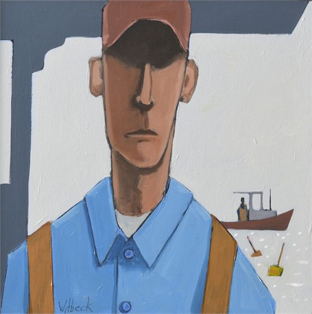 "David Witbeck | Clarence | Oil on Panel | 12"" X 12"" 