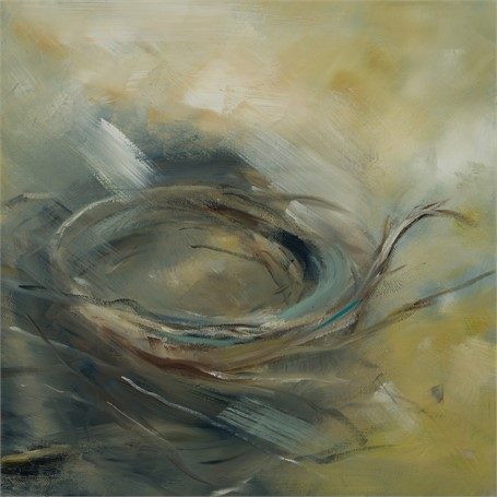 "Ingunn Milla Joergensen | Nest #1 | Oil on Canvas | 12"" X 12"" 
