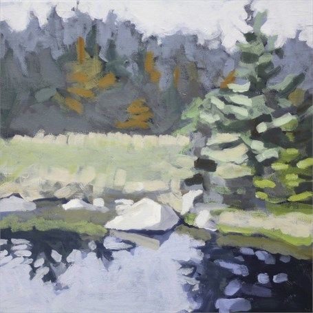 "Liz Hoag | Fall Reflection | Acrylic | 10"" X 10"" 