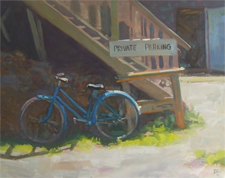 "Daniel J. Corey | Local Wheels | Oil | 24"" X 30"" 