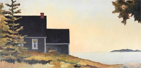 "William Fothergill | Off Deer Isle | Oil | 18"" X 36"" 