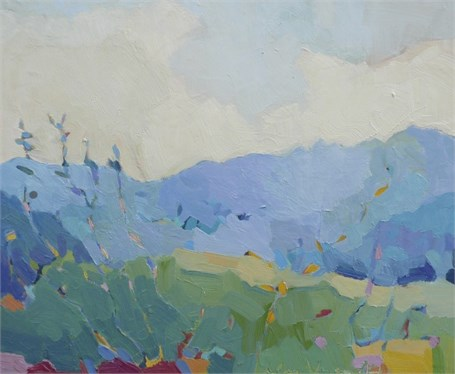 "Henry Isaacs | Meadow at Middlebury Gap | Oil | 20"" X 24"" 