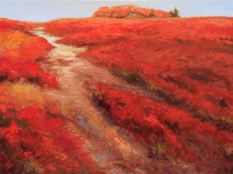 "Abbie Williams | Ridiculously Red Blueberries | Oil | 24"" X 32"" 
