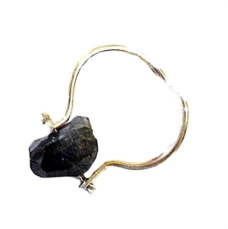 Ring - Silver & Black Tourmaline
