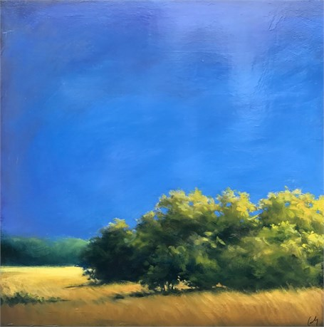 "Margaret Gerding | Blue in Summer | Oil on Panel | 24"" X 24"" 