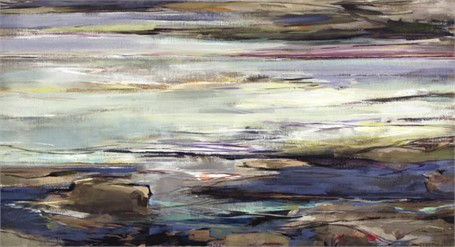 "Jeffrey T. Fitzgerald | Lightly | Acrylic | 22"" X 40"" 