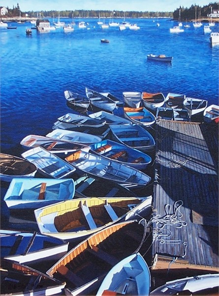 Dinghys in Round Pond 36 x 24