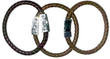 Bracelet - Thick Braided Leather Assorted