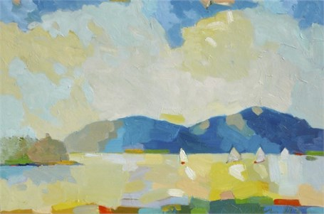 "Henry Isaacs | Sailing, August | Oil | 16"" X 24"" 
