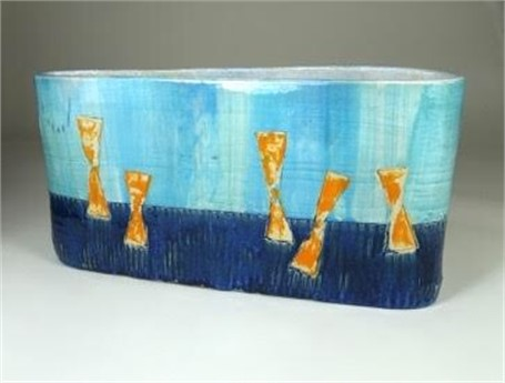 "Kevin Keiser | Between Waters and Sky | Ceramic | 7.5"" X 15"" 