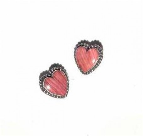 Earrings - Sterling Silver Post with Spiny Oyster Heart