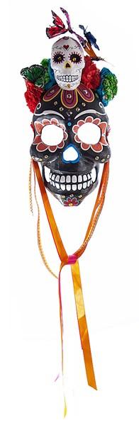Day of the Dead Black Sugar Skull Mask